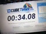 Rubik's cube fini en 34 secondes (méthode de débutant)