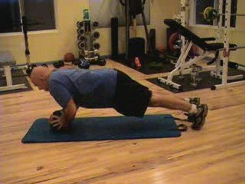 Medicine Ball Plank-Push up