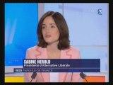 Alternative Libérale - Sabine Herold au 19/20 de France3 IDF