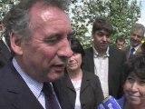 François Bayrou à la ferme Modem C. Lepage élections