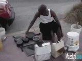 batteur de rue - street drummer