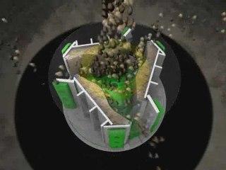 simulation technique en images de synthèse du concasseur  Barmac de Metso