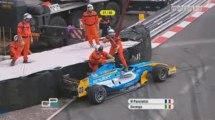 GP2 Monaco 2009 feature race Pancistici crashes