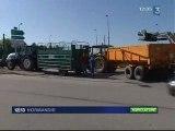 manifestations paysannes après l'échec des négos sur le lait