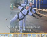 Skydiving experience UK. Sky-diving freefall parachute