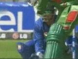 Isuru Udana bowling against Bangladesh