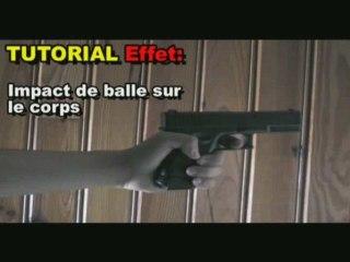 Tutorial effet : Impact de balle sur le corps