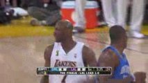 Pau Gasol with a wonderful pass to Lamar Odom during the fir