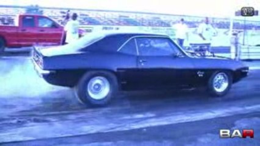 HD '69 Blown Camaro SS Burnout and Launch