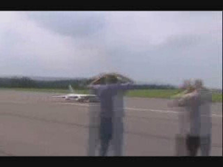 RC control B 52 air plane crash
