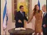 Sarkozy chez les sionistes (Palestine Occupée)