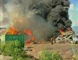 La Reunion Le Port 97420 incendie Cycléa fumée noire dioxine