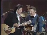Johnny Cash & Carl Perkins ensemble sur scene