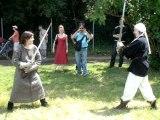 Escrime artistique mediévale à la fête médiévale de Vigneux