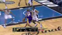 Kobe Bryant, scored 30 points to lead the Lakers to their 15