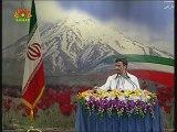 RII: Conférence de presse du président réélu M. Ahmadinejad