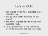 Your MLM Business Plan Doesn't work! -- Network Marketing