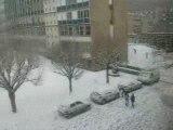 Le Lycée Tocqueville enneigé à Cherbourg ( février 2009 )