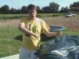 Bache sur trampoline avec filet
