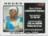 Communiqués nécrologiques du 17-06-09