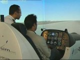 Simulateur de vols au salon du Bourget