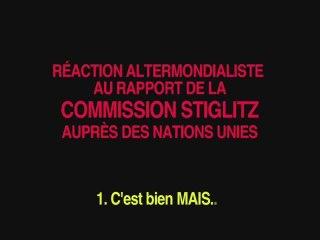Rapport Stiglitz 1: C'est bien MAIS...