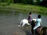 Delphes & Moi dans l'eau