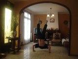 Moi en 14 pompes équilibre en force !!!!!!!!!