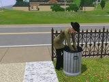 Sims 3 - fouille les poubelles