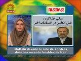 Mottaki dévoile le rôle de Londres dans les troubles en Iran