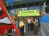 Manifestation des syndicats du CHU de Nantes