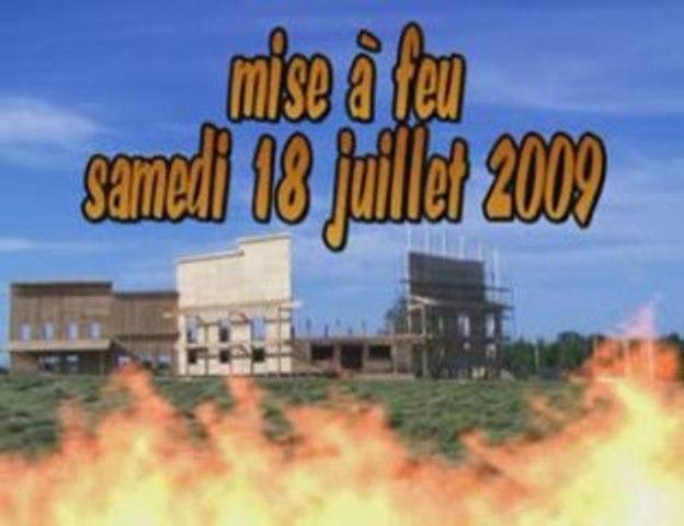 feu de St Jean Fontenoy 2009 (contruction partielle)